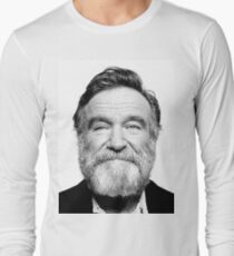 robin williams beard Long Sleeve T-Shirt