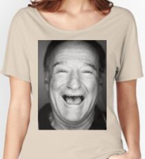 robin williams black and laugh Women's Relaxed Fit T-Shirt