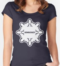 democrazy 2010 - promotional shirt - v1.0 invert Women's Fitted Scoop T-Shirt