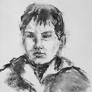 Boy With Hooded Jacket by Barbara Pommerenke
