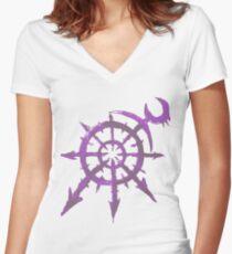 Mark of Chaos - Slaanesh Women's Fitted V-Neck T-Shirt