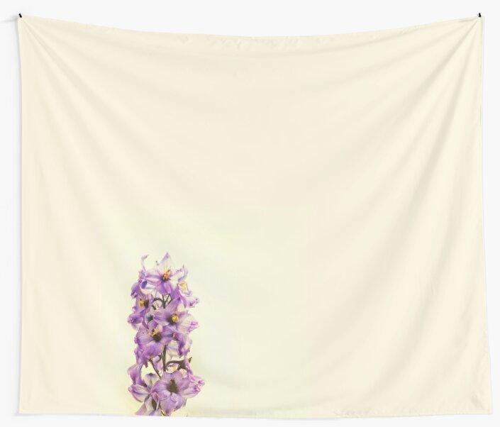 Purple Larkspur Delphinium by Vicki Field