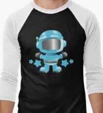 Little cute Space man in a Blue space suit Men's Baseball ¾ T-Shirt