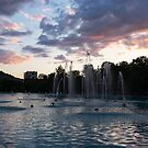 Dancing Jets and Music Sunset - Plovdiv Singing Fountains by Georgia Mizuleva