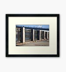 promenade old cast iron fence  Framed Print