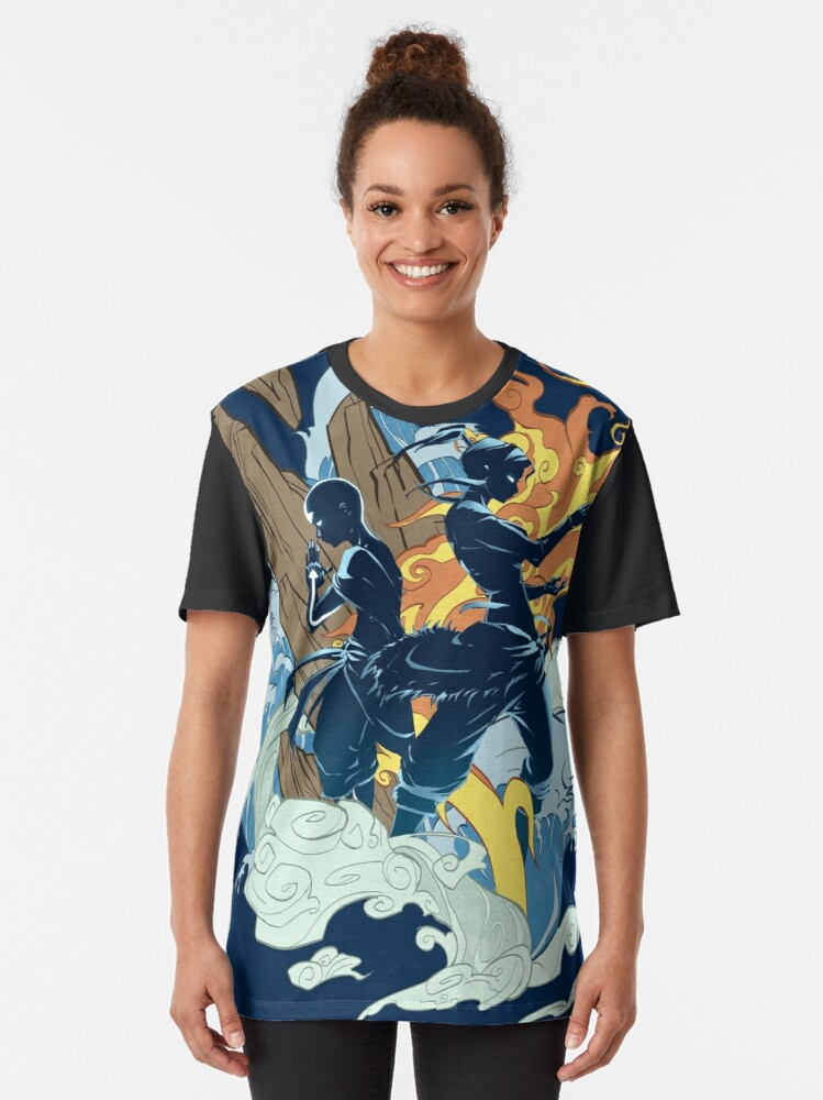 Alternate view of Two Avatars Graphic T-Shirt