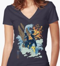 Two Avatars Women's Fitted V-Neck T-Shirt