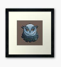 Cynical Owl Framed Print