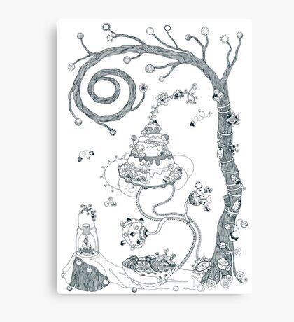 Garden party - Magical home Canvas Print