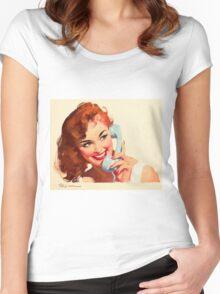 Gil Elvgren Appreciation T-Shirt no. 10. Women's Fitted Scoop T-Shirt
