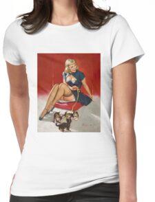 Gil Elvgren Appreciation T-Shirt no. 11. Womens Fitted T-Shirt