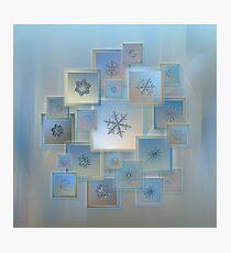 Snowflake collage - Bright crystals 2012-2014 Photographic Print