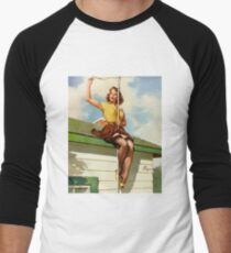 Gil Elvgren Appreciation T-Shirt no. 16. Men's Baseball ¾ T-Shirt