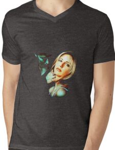 Buffy & Angel Mens V-Neck T-Shirt