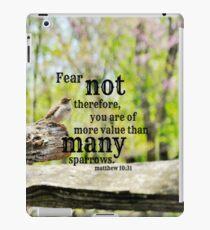 Fear Not Matthew 10 iPad Case/Skin