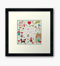 Little Red print Framed Print