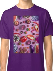 Red food on pink Classic T-Shirt