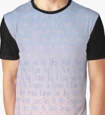 Love Love Love - Rose Quartz and Serenity  Graphic T-Shirt