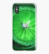 Fantasy Glass Orb in Orange iPhone Case