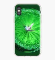 Fantasy Glass Orb in Orange iPhone Case
