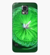 Fantasy Glass Orb in Orange Case/Skin for Samsung Galaxy