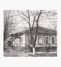 Hand drawn old architecture Photographic Print