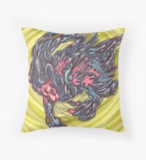 Bubble gum explosion pillow Throw Pillow