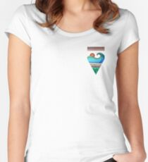 Sayulita Sunrise Surf Sessions Women's Fitted Scoop T-Shirt