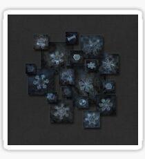 Snowflake collage - Dark crystals 2012-2014 Sticker