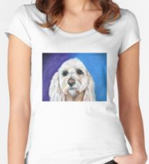 """""""Chewbacca"""" the best fishing buddy.  Women's Fitted Scoop T-Shirt"""