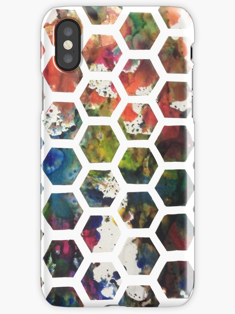 Hexagonal Ink (Vertical) by baarts