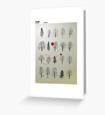 Natura Poster Greeting Card