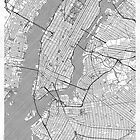 New York Map Line by HubertRoguski