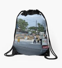 Information Overload Drawstring Bag
