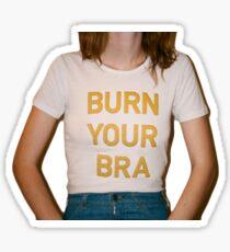 burn your bra Sticker