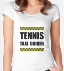 Tennis Taxi Driver Women's Fitted Scoop T-Shirt