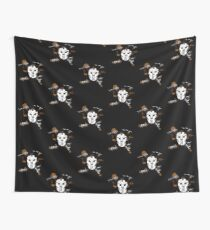 Masked Chaos Wall Tapestry