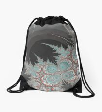 Frozen Flame Drawstring Bag
