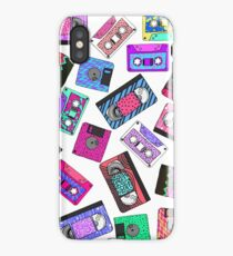 Retro 80's 90's Neon Patterned Cassette Tapes iPhone Case
