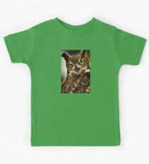 Great Horned Owl with yellow eyes Canvas Print, Photographic Print, Art Print, Framed Print, Metal Print, Greeting Card, iPhone Case, Samsung Galaxy Case, iPad Case, Throw Pillow, Tote Bag, Kids Tee