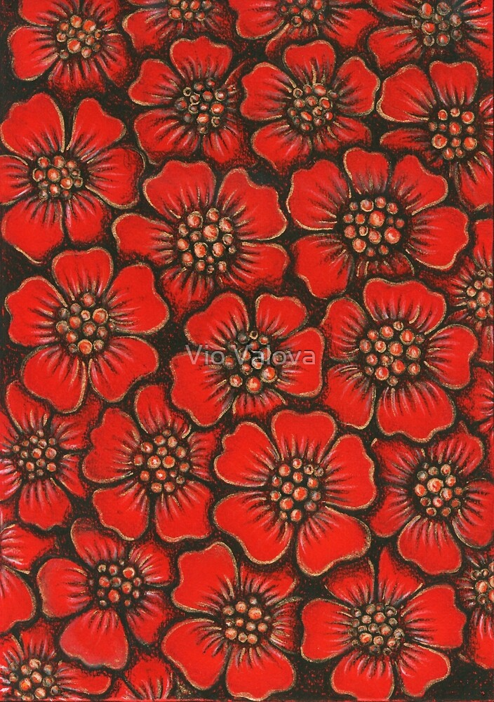 Red Flowers by VioDeSign