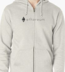 Ethereum logo  Zipped Hoodie