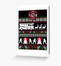 Firefighter X-Mas Greeting Card