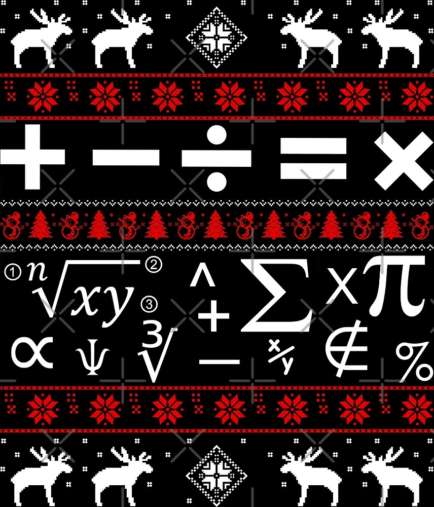 Math Ugly Christmas Sweater by wantneedlove