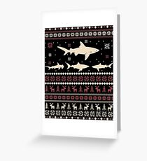 Shark Ugly Christmas Sweater Greeting Card