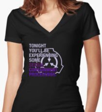 Sexual Containment Procedures Women's Fitted V-Neck T-Shirt