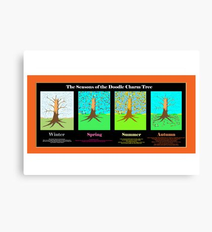 The Seasons of the Doodle Charm Tree Canvas Print