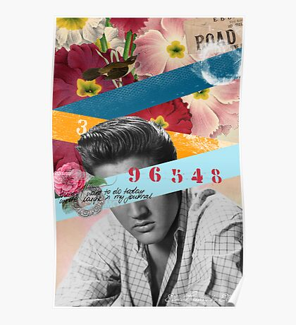 Public Figures Collection -- Elvis by Elo Poster