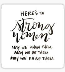 Strong Women Sticker