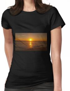 Sunset beach Womens Fitted T-Shirt